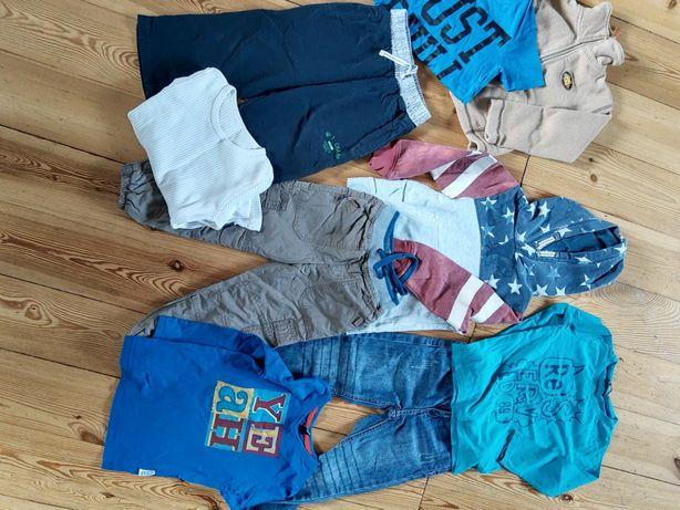 Ubrania dla chłopca na 98 cm zestaw bluza dżinsy spodnie dresowe