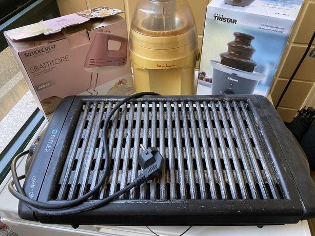 Grelhador+Batedeira+Maq. Sumos+Fonte Chocolate