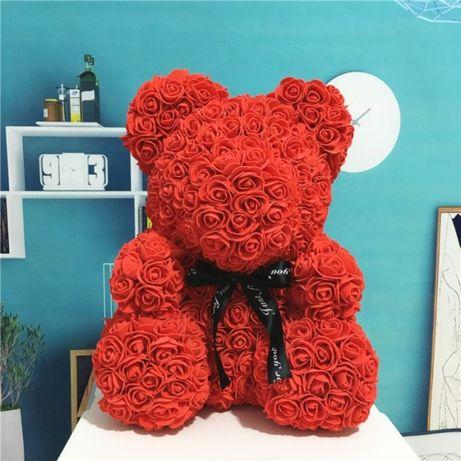 Dla kobiet !!! Walentynki Miś z róż z dedykacją dla zakochanych