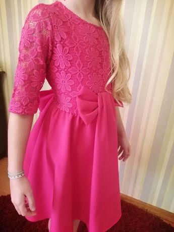 Плаття малинове на ріст 134