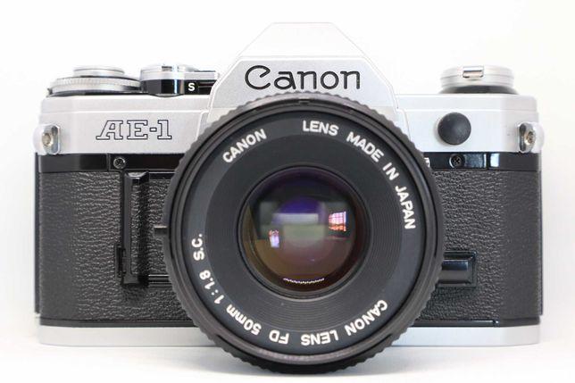 Canon AE-1 + Canon FD 50mm 1.8 (conjunto vintage analógico)