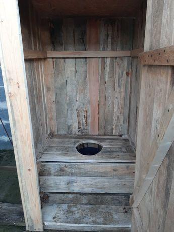 Wychodek drewniany...idealny np na budowe