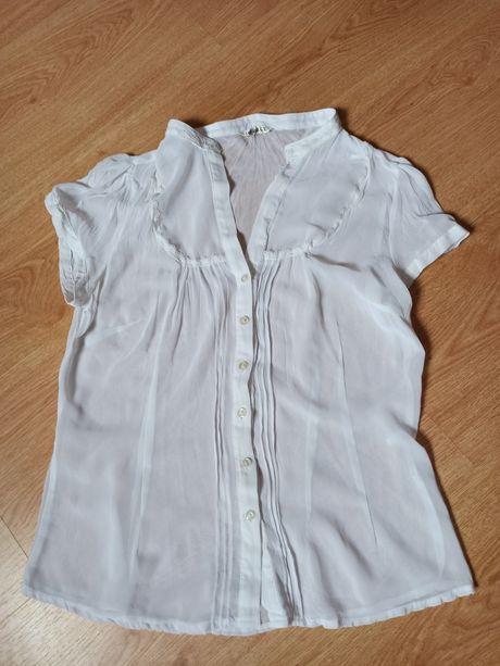 Блузка полупрозрачная, майка, футболка с воланами