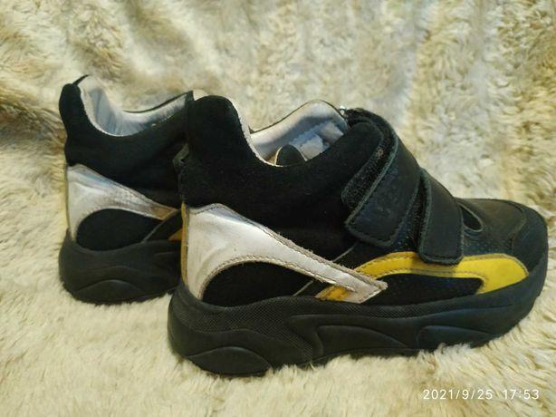 Детские демисезонные кожаные ортопедические кроссовки, ботинки