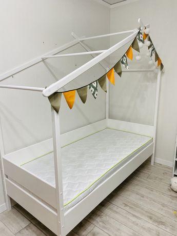 Ліжко дитяче дерево підросткове  ліжко кровать домик