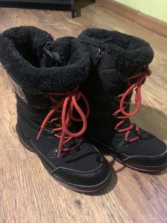 Buty zimowe,Śniegowce softshell , kozaki dziecięce rozmiar 33(21cm)