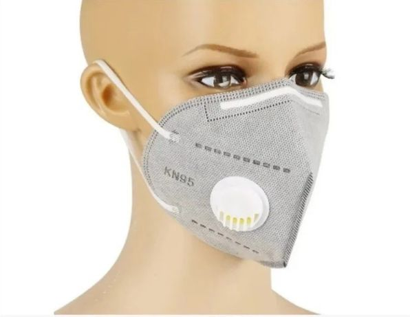 10 ШТУК Защитная маска СЕРАЯ с клапаном респиратор с угольным фильтром