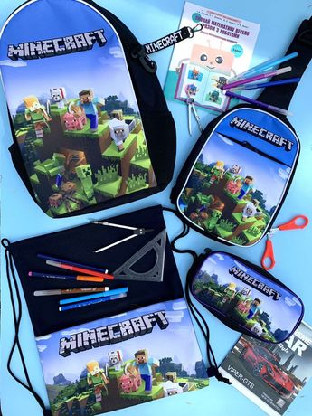 Майнкрафт/Minecraft школьный портфель, сумка, пенал, мешок для обуви