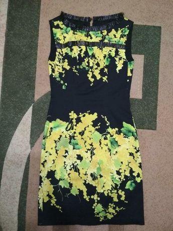 Платье плаття сукня сарафан недорого дёшево купить миди жёлтое чёрное