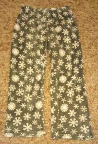 Cieplutkie spodnie z polaru popielate rozmiar 14/16= M