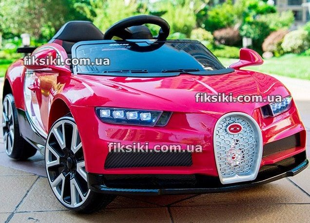 Детский электромобиль 7638 EVA КРАСНЫЙ, Bugatti, Дитячий електромобiль