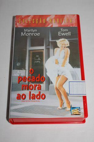 4 VHS - Marilyn Manroe - Cassetes - K7 - Fita
