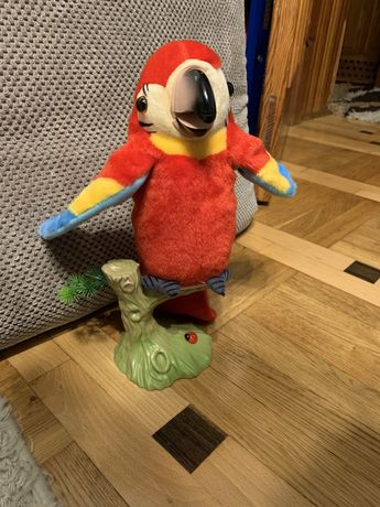 Mowiaca papuga powtarza