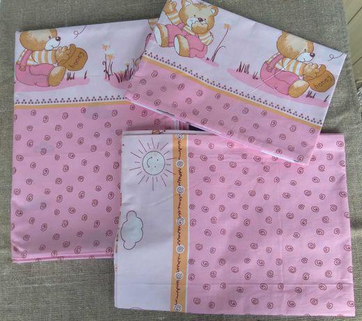 Комплект постельного белья для детской кроватки. Качественное