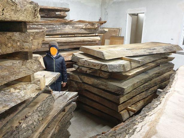 Stół drewniany dębowy lite drewno blat monolit kuchnia łazienka dąb