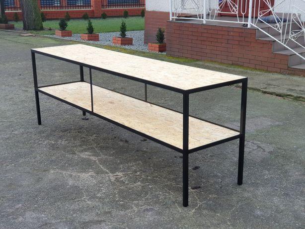 Stół warsztatowy garazowy spawalniczy regal stolik spawalniczy NOWE