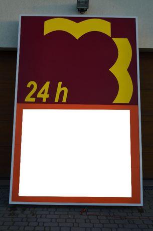 Kaseton Reklamowy podświetlany szyld zewnętrzny duży 2800x1800