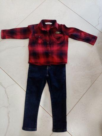 Swiateczny Zestaw dlachlopca spodnie Zara koszula coccodrillo