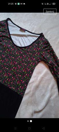 Wiosenna Sukienka/ długa tunika w kwiatki, rozmiar uniwersalny