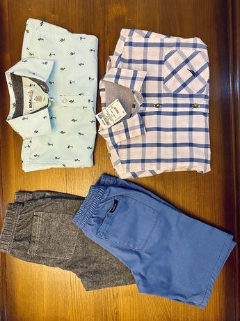 Шорты и рубашки комплектом 116-122 на 6лет
