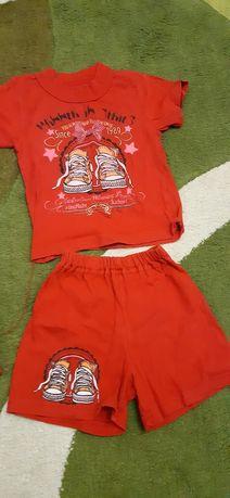 Летний костюм: футболка и шорты 86 р
