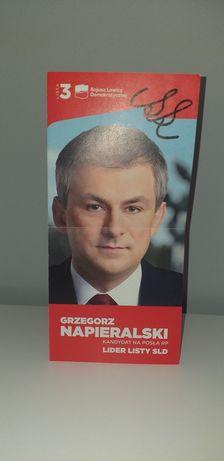 Autograf - Grzegorz Napieralski