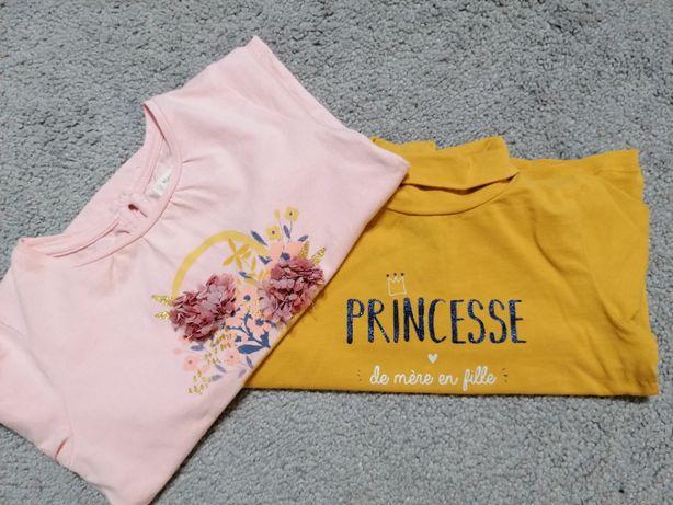 Bluzki z długim ręnkawem dla dziewczynki, rozmiar 80 i 92.