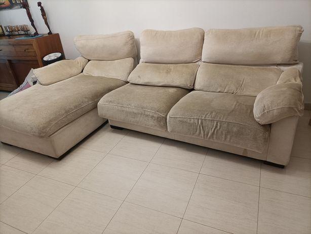 Sofá cama beje 2.70x170