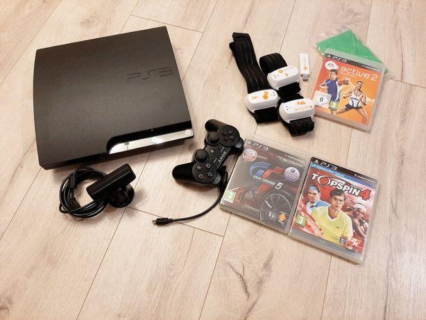 PS3 - PlayStation 3, wersja slim 320 GB + GRY