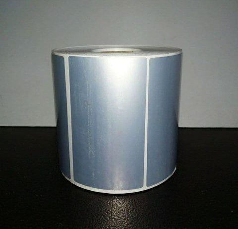 Металлизированные серебристые термоэтикетки 100х60 мм. 1000 шт. Дл