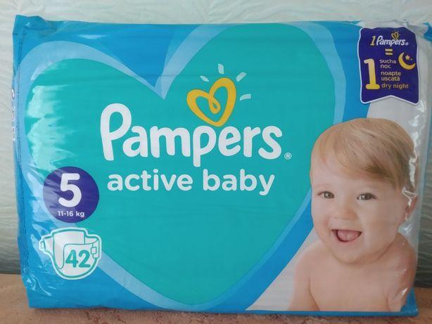 Продам подгузники Pampers active baby размер 5