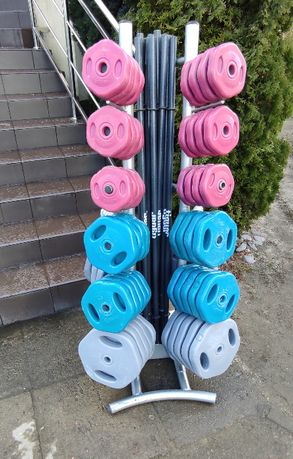 Stojak Tiguar power gym sztangi obciążenie komplet sztanga krążek
