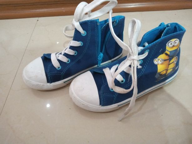 Buty Trampki Minionki z zamkiem błyskawicznym