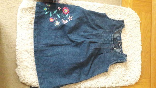 Sukienka dżinsowa rozmiar 80