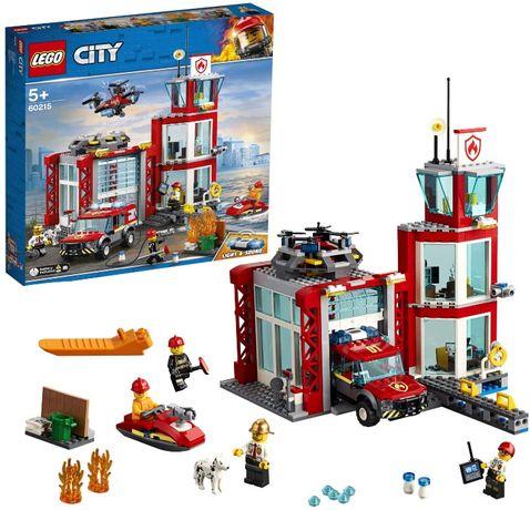 NOWE Klocki LEGO City Remiza strażacka 60215