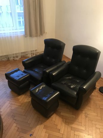 Fotele skora+ pufki
