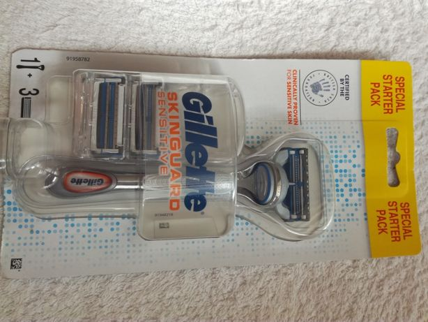 maszynka do golenia gillette skinguard sensitive + 3 ostrza