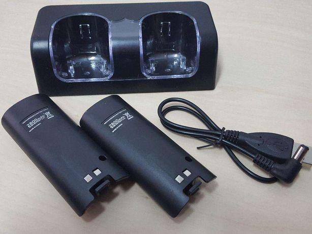 RU46 DocK Station Nintendo Wii + 2 Baterias 2800mAh