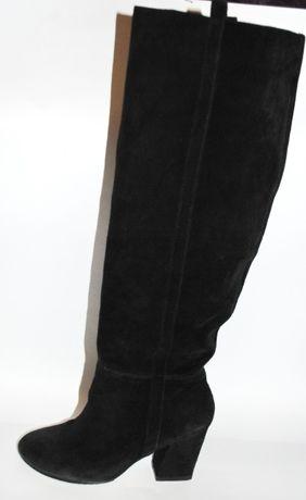 Замшевые высокие сапоги Zara 36 раз