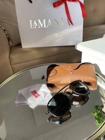 Okulary przeciwsloneczne Ray Ban czarne etui filtry jak nowe