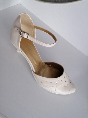 Buty czółenka ślubne 37,38