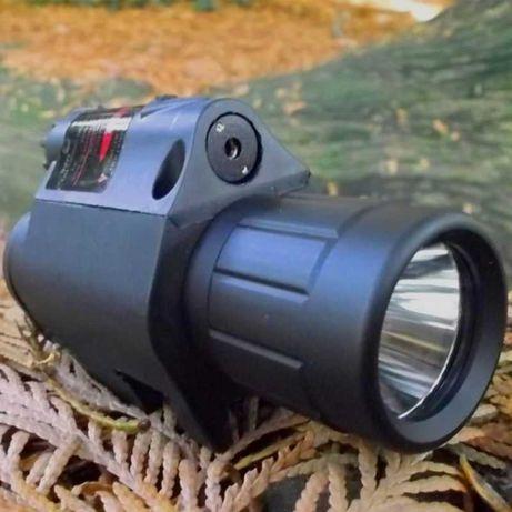 Mira telescópica e a laser e camera Vigilância
