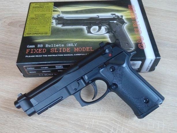 Акция! Страйкбольный пистолет BERETTA 92 VERTEC Green Gas, страйкбол