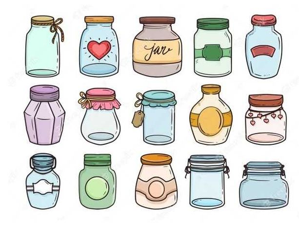 Frascos de vidro (p/ compotas, doces, conservas, artesanato)