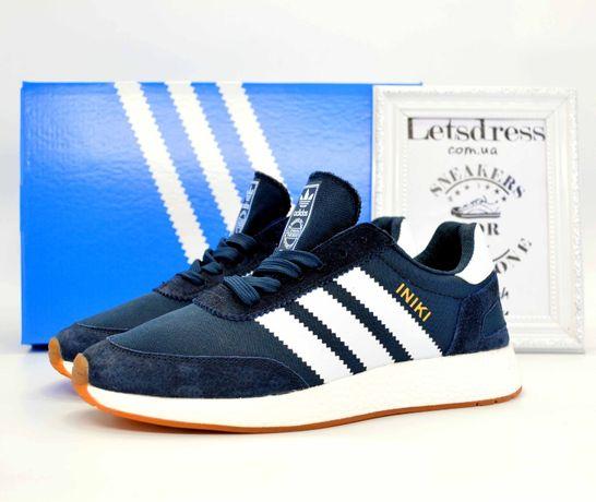 Adidas Iniki Runner Boost Blue замш и сетка адидас иники ранер синие
