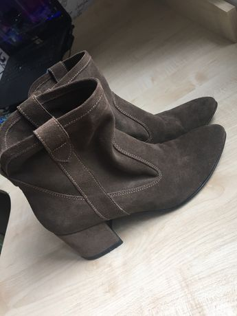 Ботинки женские M-Lux,нат замш,35р