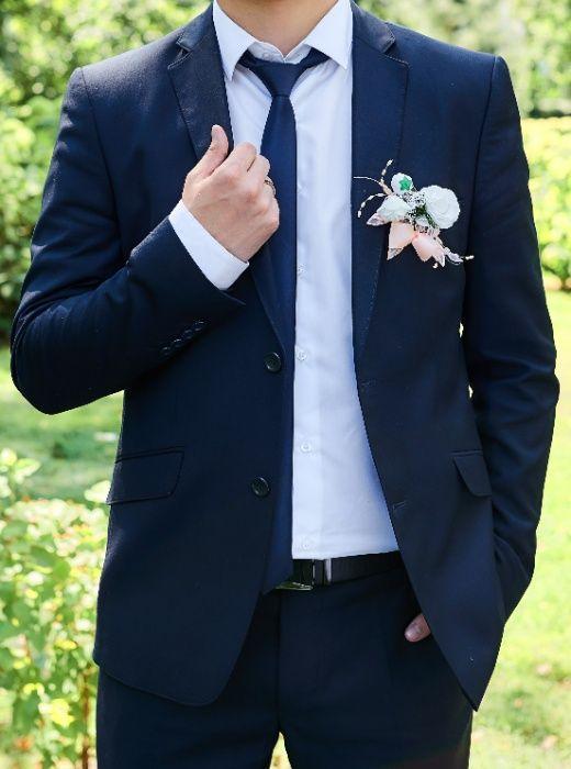 мужской костюм синего цвета Черкасская Лозовая - изображение 1