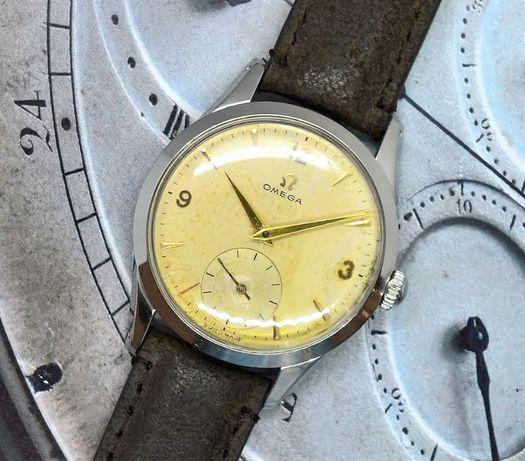 Zegarek OMEGA lata 50. Stalowa koperta.