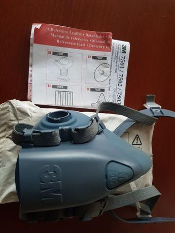Maska filtrująca 3M 7502 nowa + komplet filtrów 3M 6055