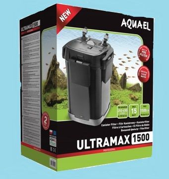 Filtr zewnętrzny Aquael Ultramax 1500 plus komplet wkładów